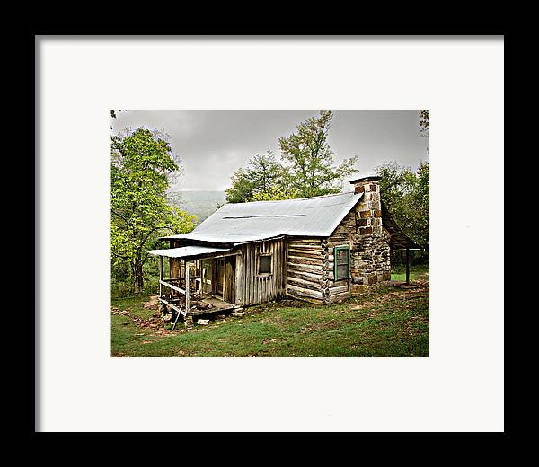 Log Cabin Framed Print featuring the photograph 1209-1144 Historic Villines Homestead by Randy Forrester
