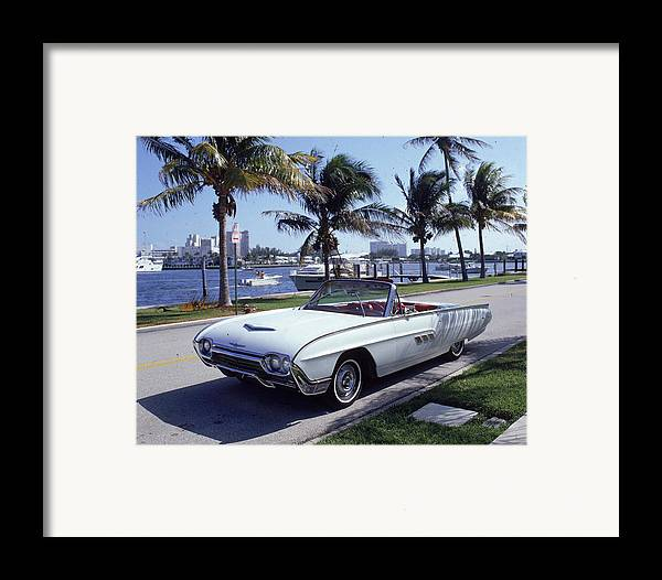 Horizontal Framed Print featuring the photograph 1963 Ford Thunderbird by Fpg