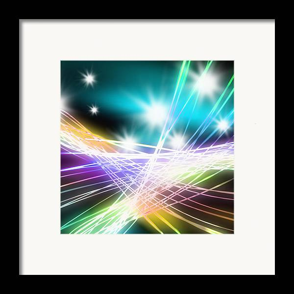 Abstract Framed Print featuring the photograph Abstract Of Stage Concert Lighting by Setsiri Silapasuwanchai