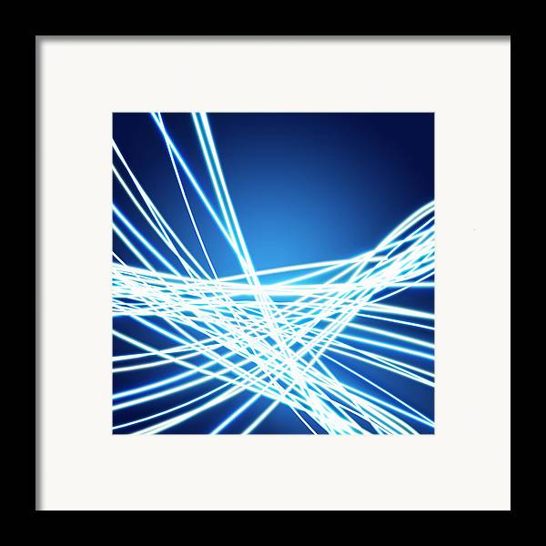Abstract Framed Print featuring the photograph Abstract Of Weaving Line by Setsiri Silapasuwanchai