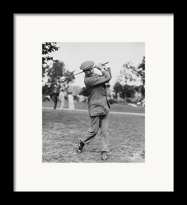 1914 Framed Print featuring the photograph Harry Vardon (1870-1937) by Granger