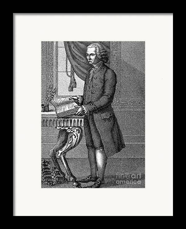 18th Century Framed Print featuring the photograph Jean Jacques Rousseau by Granger