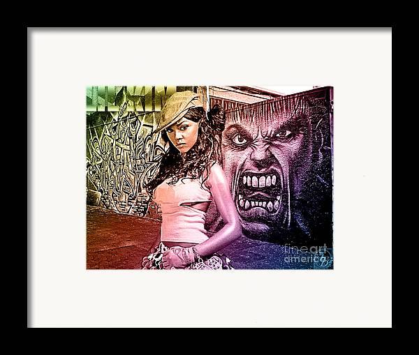 Digital Art Framed Print featuring the digital art Lil Kim by The DigArtisT