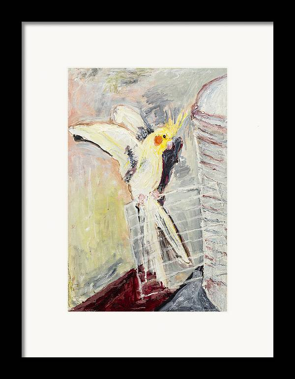 Bird Framed Print featuring the painting Spicy by Iris Gill