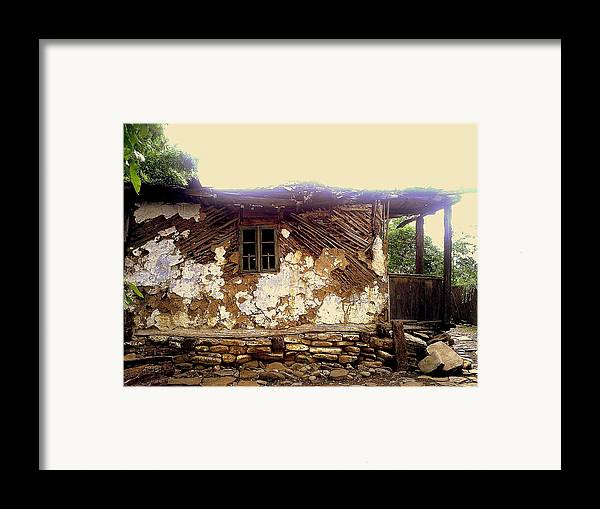 Years Old House Framed Print featuring the relief 230 Years Old House by Romeo Popescu