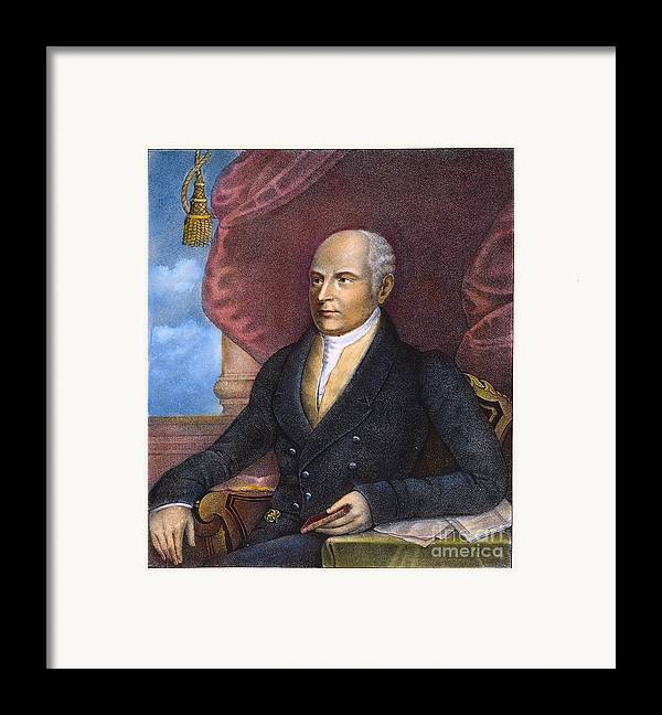1825 Framed Print featuring the photograph John Quincy Adams by Granger