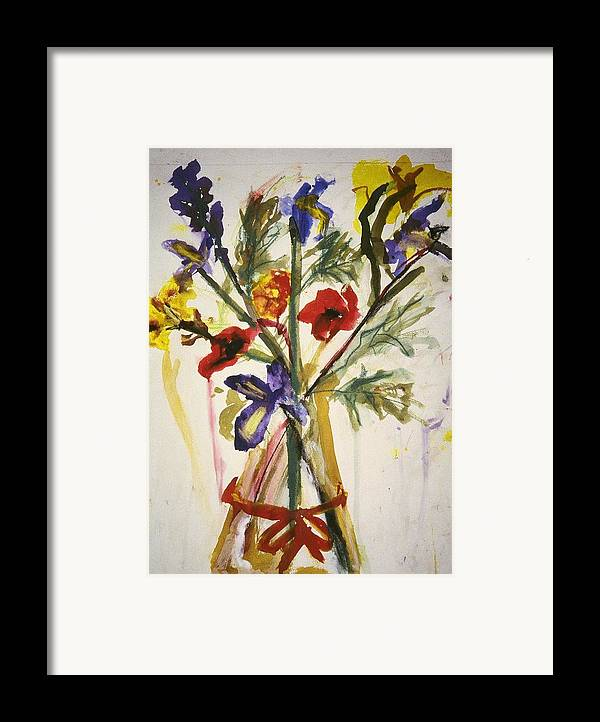 Fine Art Framed Print featuring the painting Untitled by Iris Gill