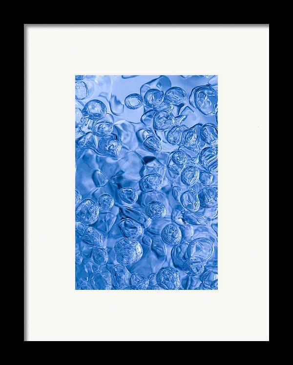Blue Abstract Framed Print featuring the photograph Blue Abstract by Frank Tschakert