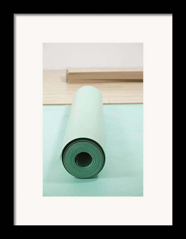 Nobody Framed Print featuring the photograph Laying A Floor. Rolls Of Underlay Or by Magomed Magomedagaev