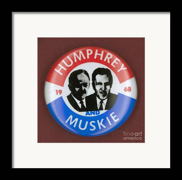 1968 Framed Print featuring the photograph Presidential Campaign, 1968 by Granger