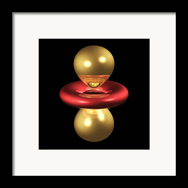 3dz2 Framed Print featuring the photograph 3dz2 Electron Orbital by Dr Mark J. Winter