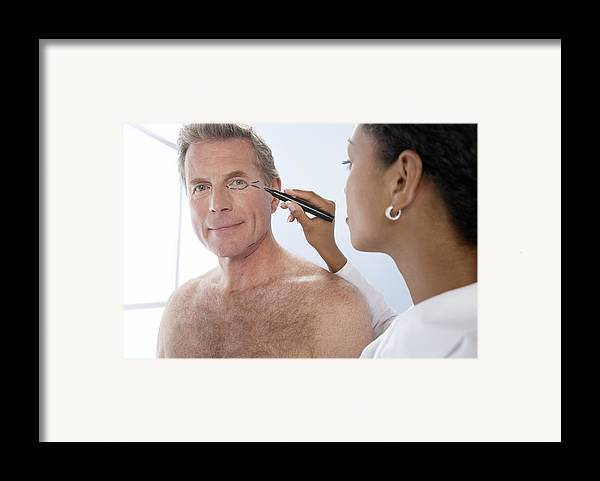 Mark Framed Print featuring the photograph Cosmetic Surgery by Adam Gault