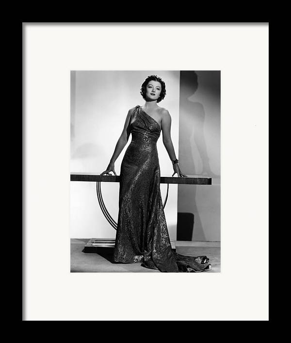 11x14lg Framed Print featuring the photograph Myrna Loy, Mgm Portrait By Clarence by Everett