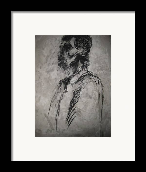 Fine Art Framed Print featuring the drawing Untitled by Iris Gill