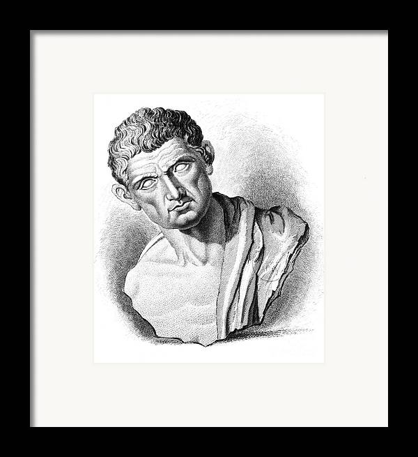 History Framed Print featuring the photograph Aristotle, Ancient Greek Philosopher by Science Source