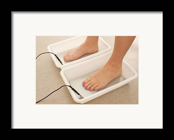 Studio Shot Framed Print featuring the photograph Iontophoresis For Excess Sweating by