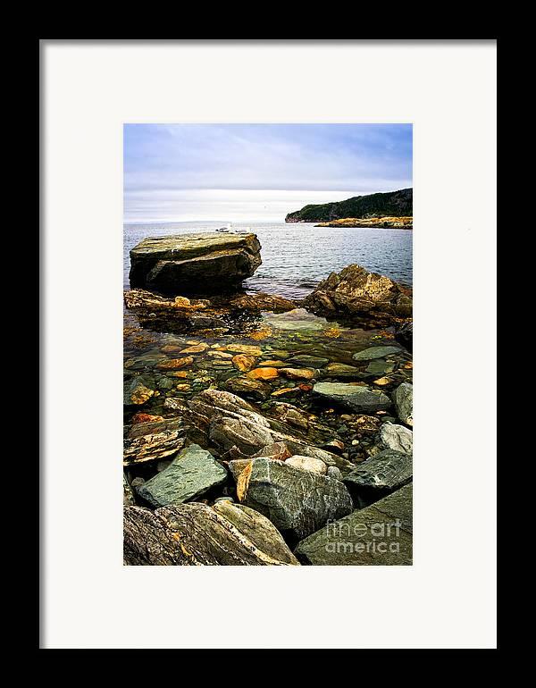 Coast Framed Print featuring the photograph Atlantic Coast In Newfoundland by Elena Elisseeva