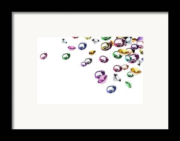 Aquamarine Framed Print featuring the photograph Colorful Gems by Setsiri Silapasuwanchai