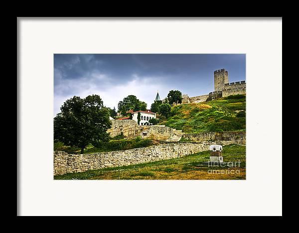 Kalemegdan Framed Print featuring the photograph Kalemegdan Fortress In Belgrade by Elena Elisseeva