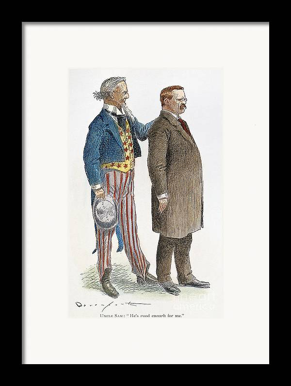 1904 Framed Print featuring the photograph Presidential Campaign, 1904 by Granger