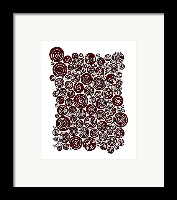 Red Framed Print featuring the painting Red Abstract by Frank Tschakert