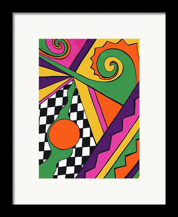 80's Glam Framed Print featuring the drawing 80's Glam by Mandy Shupp