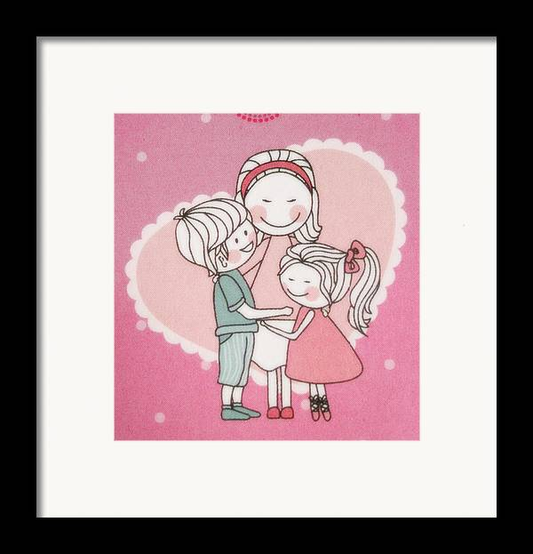 Action Framed Print featuring the tapestry - textile A Cute Cartoon. by Panyanon Hankhampa