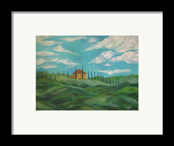 Tuscany Framed Print featuring the painting A Day In Tuscany by John Keaton