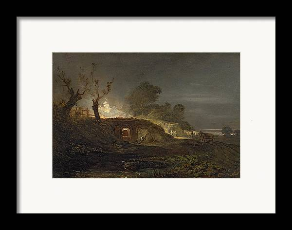 Xyc145616 Framed Print featuring the photograph A Lime Kiln At Coalbrookdale by Joseph Mallord William Turner