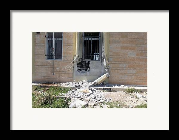 City Hall Framed Print featuring the photograph A Rocket Propelled Grenade Damaged This by Stocktrek Images