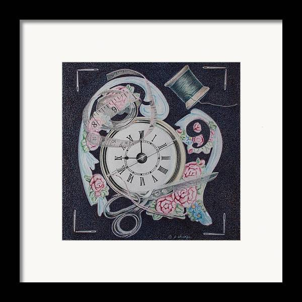 Fantasy Realistic Still Life Framed Print featuring the painting A Stitch In Time by Patsy Sharpe