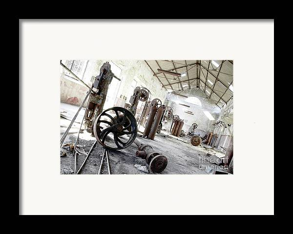 Abandoned Framed Print featuring the photograph Abandoned Factory by Carlos Caetano