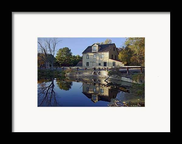 Brian Wallace Framed Print featuring the photograph Abbotts Mill by Brian Wallace