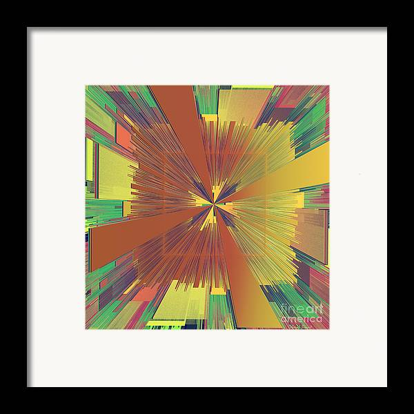 Abstract Framed Print featuring the digital art Abstract 4 by Deborah Benoit