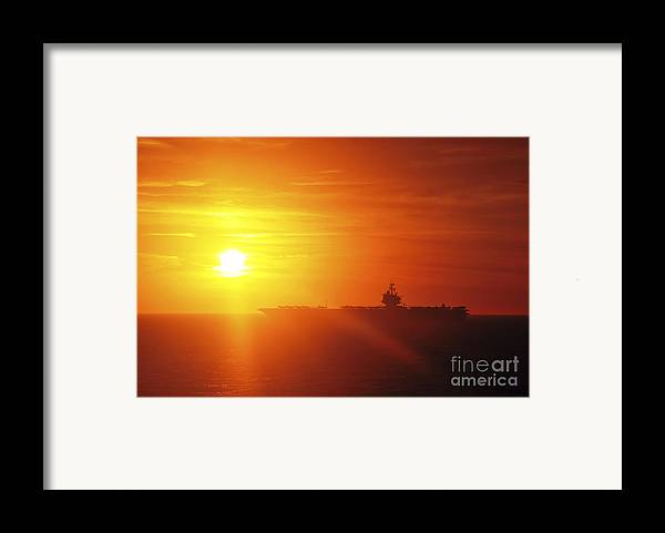 Uss Enterprise Framed Print featuring the photograph Aircraft Carrier Uss Enterprise by Stocktrek Images