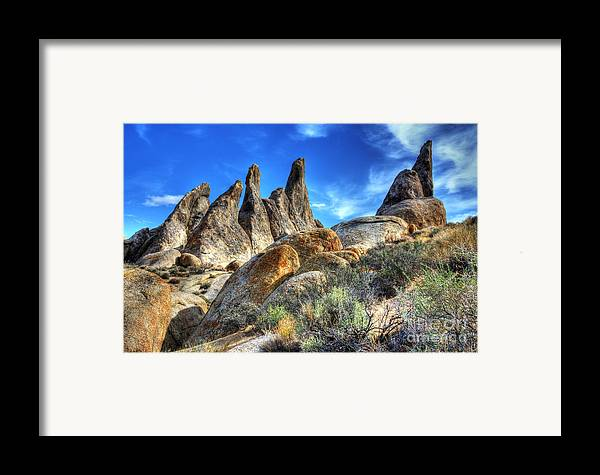 Alabama Hills Framed Print featuring the photograph Alabama Hills Granite Fingers by Bob Christopher