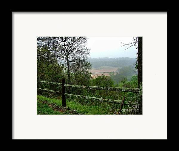 Natchez Trace Framed Print featuring the photograph Along The Natchez Trace by Julie Dant