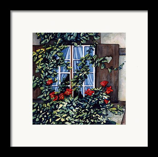 Alsace Framed Print featuring the painting Alsace Window by Scott Nelson