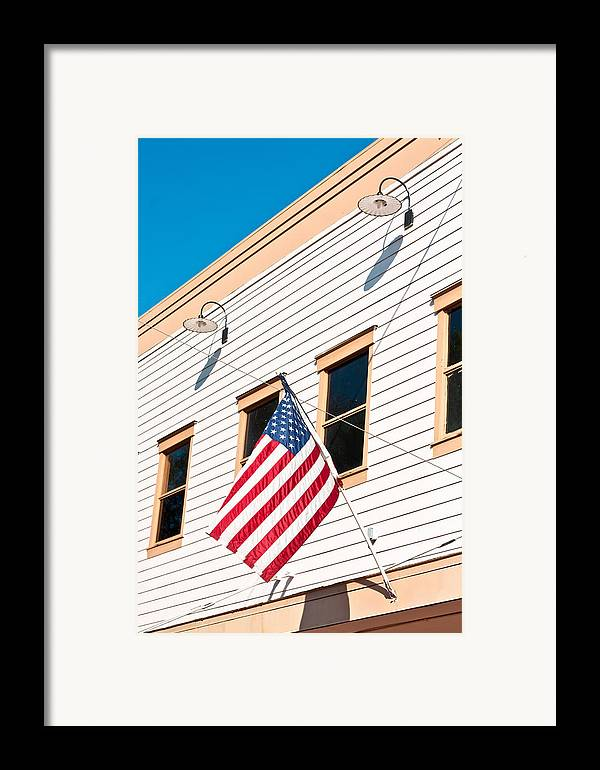 4th Framed Print featuring the photograph American Flag by Tom Gowanlock