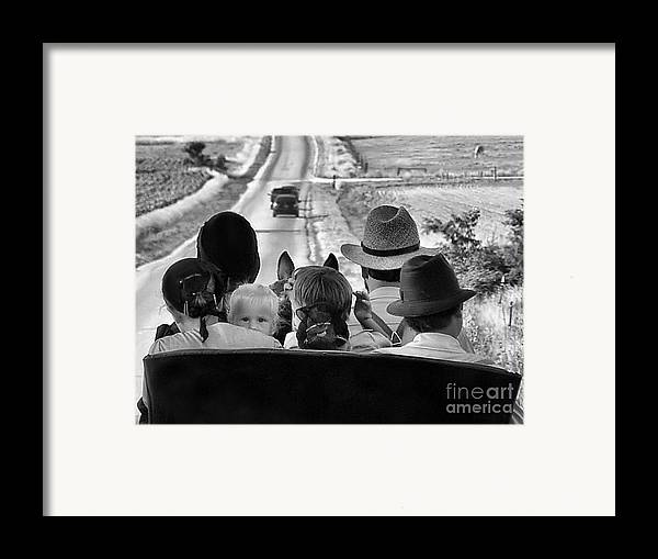 Amish Family Framed Print featuring the photograph Amish Family Outing II by Julie Dant