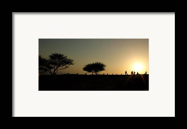 Silhouette Framed Print featuring the photograph And The Day Ends Quietly.. by Saurabh Shenai
