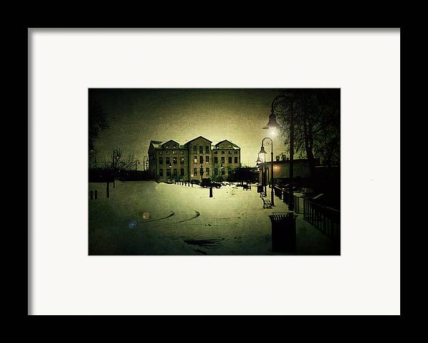 Appleton Framed Print featuring the photograph Appleton Waterfront by Joel Witmeyer