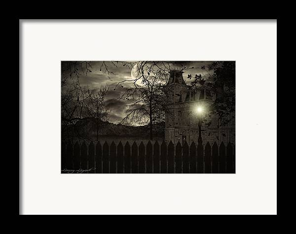 Haunted House Framed Print featuring the photograph Arrival by Lourry Legarde
