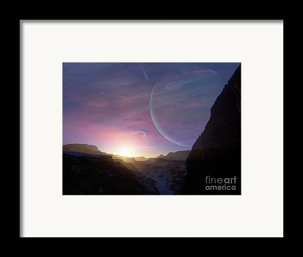 Artwork Framed Print featuring the digital art Artists Concept Of A Scene by Brian Christensen