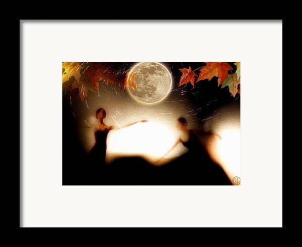 Landscape Framed Print featuring the digital art Autumn Moon Dance by Gun Legler
