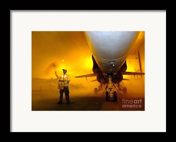 Horizontal Framed Print featuring the photograph Aviation Boatswains Mate Waves Class by Stocktrek Images