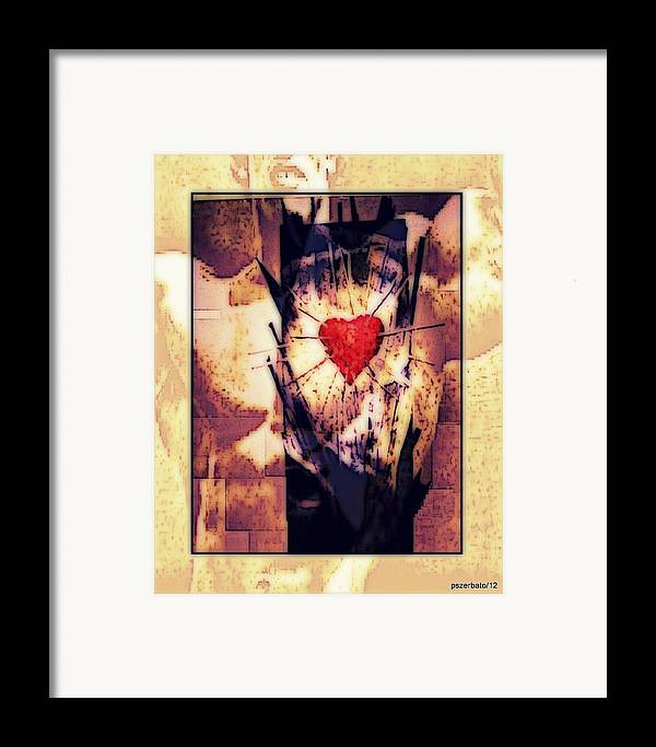 Heart Framed Print featuring the digital art Awareness In Potential State by Paulo Zerbato