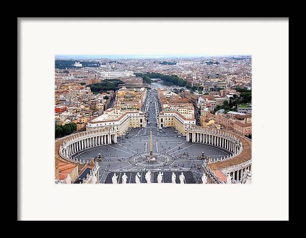Horizontal Framed Print featuring the photograph Basilica Di San Pietro by Deborah Lynn Guber
