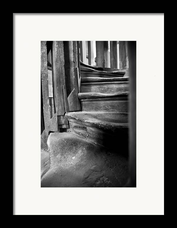 Antiquity Framed Print featuring the photograph Bell Tower Steps1 by John Bartosik