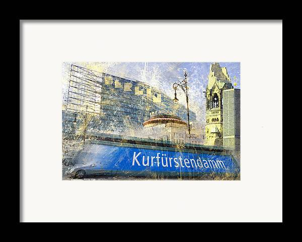 Postcard Framed Print featuring the photograph Berlin Composing by Melanie Viola